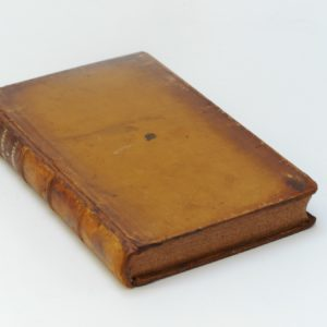 After conservation with original leather back