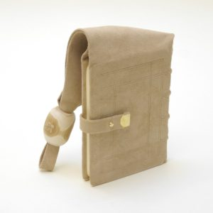 Girdle book in reversed goat skin