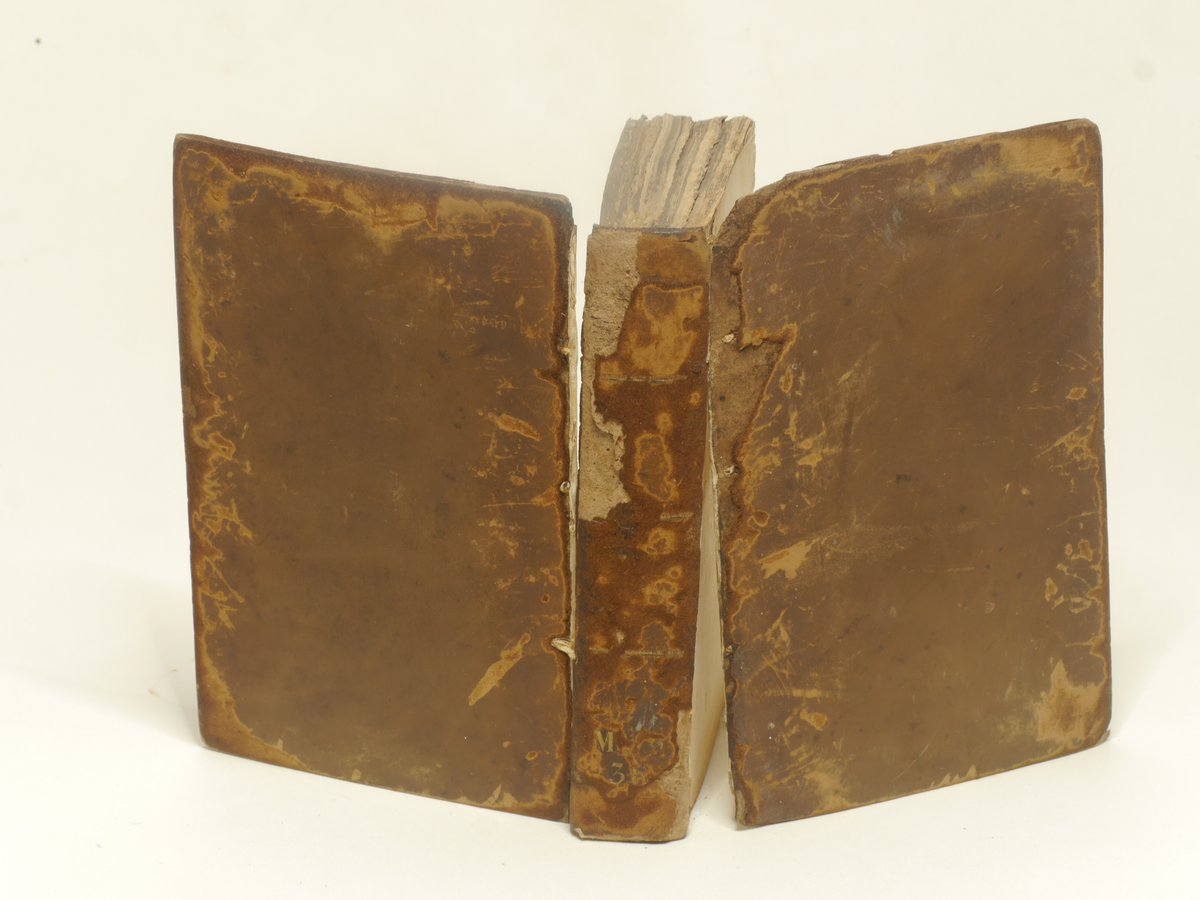 The 1556 Magna Carta before conservation with collapsed early 19th century binding